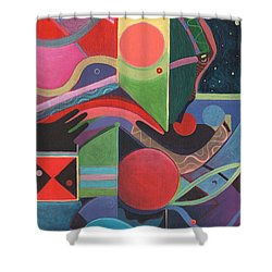 Rising Above And Synergy 2 Shower Curtain by Helena Tiainen