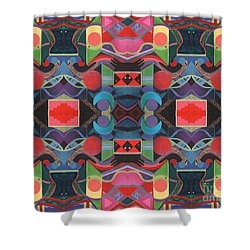 Rising Above And Synergy 4 Shower Curtain by Helena Tiainen