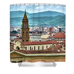 Rising Above The City Shower Curtain