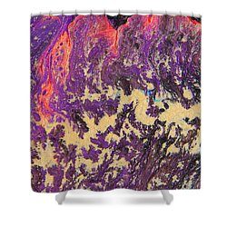 Rising Energy Abstract Painting Shower Curtain