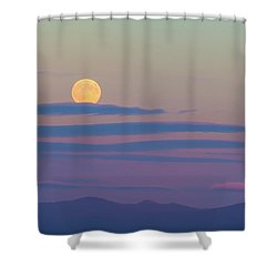 Rising Harvest Moon  Shower Curtain