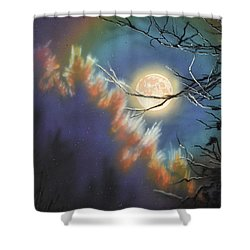 Rising Moon Shower Curtain