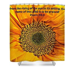 Rising Of The Sun Shower Curtain