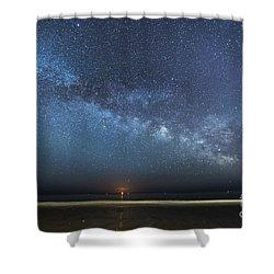 Rising Tide Rising Moon Rising Milky Way Shower Curtain