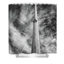 Rising To The Heights Shower Curtain by Greg Nyquist
