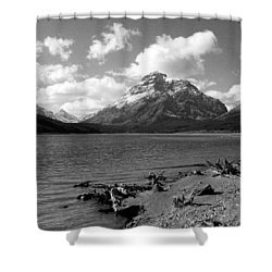 Rising Wolf, Two Med Shoreline Shower Curtain