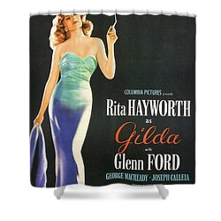 Rita Hayworth As Gilda Shower Curtain by Georgia Fowler
