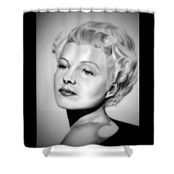 Rita Hayworth Shower Curtain by Fred Larucci