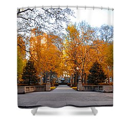 Shower Curtain featuring the photograph Rittenhouse Square Philadelphia Pa by Bill Cannon