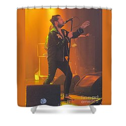 Shower Curtain featuring the photograph Rival Sons Jay Buchanan by Jeepee Aero