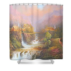 Rivendell Shower Curtain by Joe Gilronan