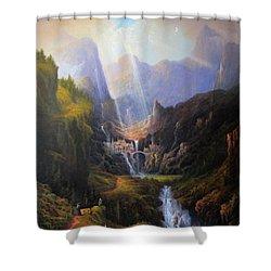Rivendell. The Last Homely House.  Shower Curtain by Joe Gilronan