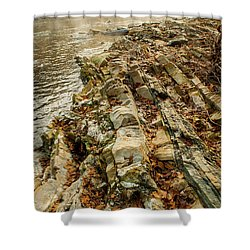 Shower Curtain featuring the photograph River Bank by Iris Greenwell