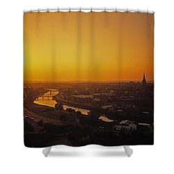 River Boyne, Drogheda, Co Louth, Ireland Shower Curtain by The Irish Image Collection