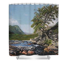 River Coe Scotland Oil On Canvas Shower Curtain