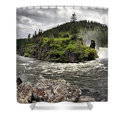 River Course Shower Curtain