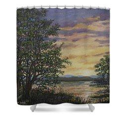 River Cove Sundown Shower Curtain