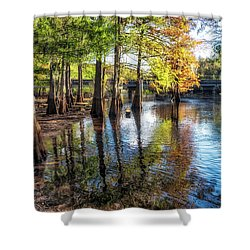 River Eeriness Shower Curtain