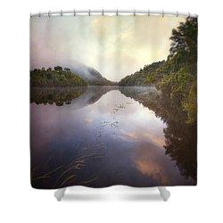River Fire  Shower Curtain
