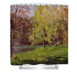 River Forks Spring 2 Shower Curtain