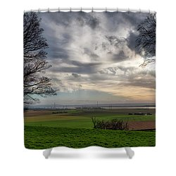 Shower Curtain featuring the photograph River Forth View From Clackmannan Tower by Jeremy Lavender Photography