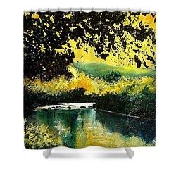 River Houille  Shower Curtain by Pol Ledent