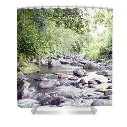 River In Adjuntas Shower Curtain