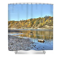 River In The Fall Shower Curtain
