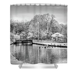 River In The Snow Shower Curtain