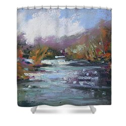 River Jewels Shower Curtain by Rae Andrews