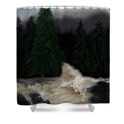 River North Carolina  Shower Curtain