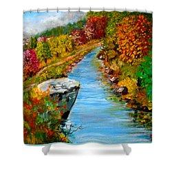 River Lousios  Shower Curtain