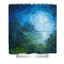 River Moon Shower Curtain by James Christopher Hill