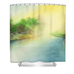 River Morning Shower Curtain