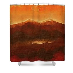 River Mountain View Shower Curtain