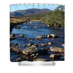 River Muick And Conachcraig Shower Curtain