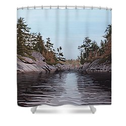 River Narrows Shower Curtain