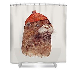 River Otter Shower Curtain by Animal Crew