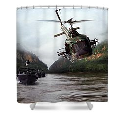 River Patrol Shower Curtain by Peter Chilelli