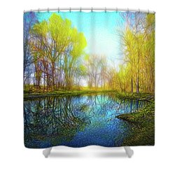 River Peace Flow Shower Curtain