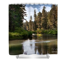Shower Curtain featuring the painting Millers Creek Painterly by Peter Piatt