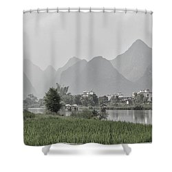 River Rafting Shower Curtain
