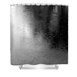 River Rain  Naperville Illinois Shower Curtain by Michael Bessler