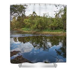 Shower Curtain featuring the photograph River Reflections by John M Bailey