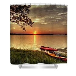 River Road Park Never Disappoints Shower Curtain