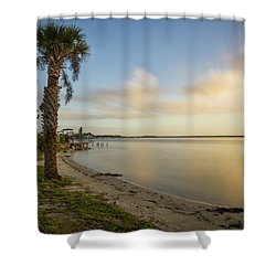 River Road  Sunrise  Shower Curtain
