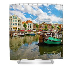 River Scene In Rotterdam Shower Curtain