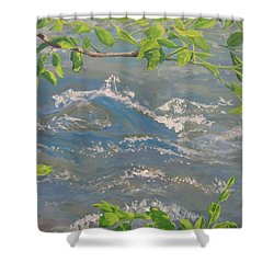 River Spring Shower Curtain