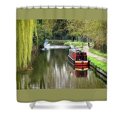 Shower Curtain featuring the photograph River Stort In April by Gill Billington