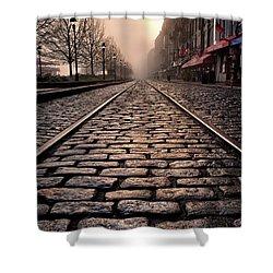 River Street Railway Shower Curtain